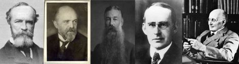 William James, Hans Driesch, Conway Lloyd Morgan, Arthur Eddington, and Alfred North Whitehead