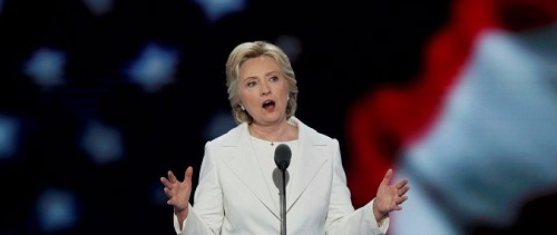 Hillary Clinton at the Democratic Convention 2016