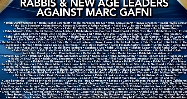 Rabbis and New Age leaders against Marc Gafni, www.drphil.com